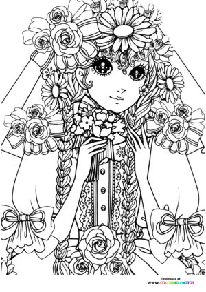 Girl-3 coloring page for Adults