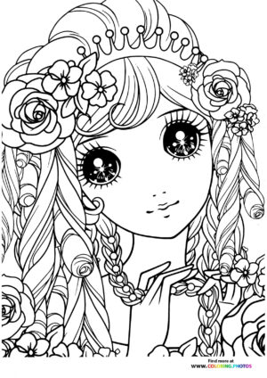 Girl-4 coloring page for Adults