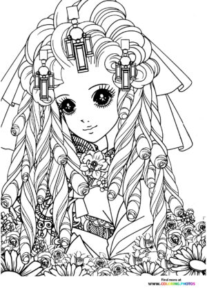Girl-5 coloring page for Adults