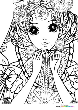 Girl-6 coloring page for Adults