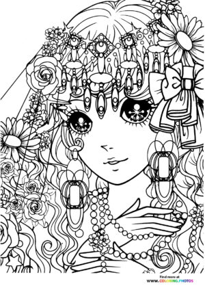 Girl-8 coloring page for Adults