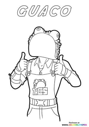 Guaco - Fortnite coloring page