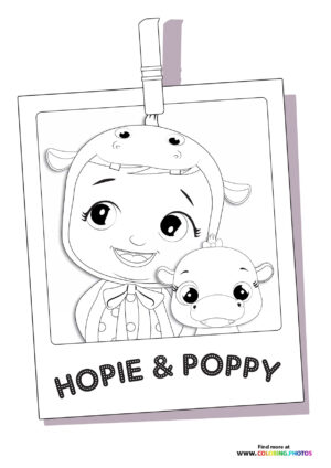 Hopie and Poppy - Cry Babies coloring page