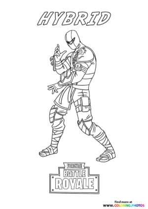 Hybrid - Fortnite coloring page