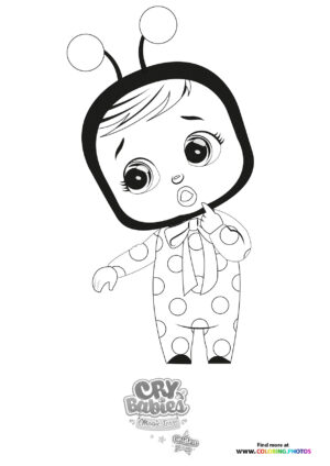 Lady - Cry Babies - Gold Edition coloring page