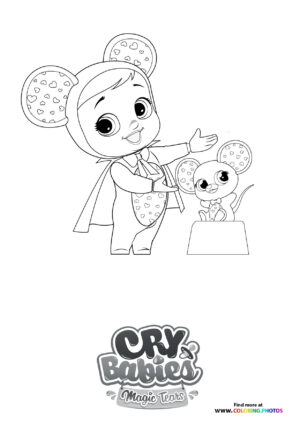 Lala cooking - Cry Babies coloring page