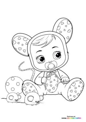 Lala - Cry Babies coloring page
