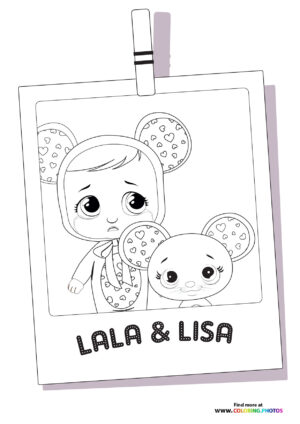Lala and Lisa - Cry Babies coloring page