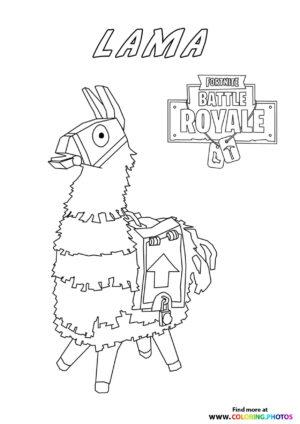 Lama - Fortnite coloring page