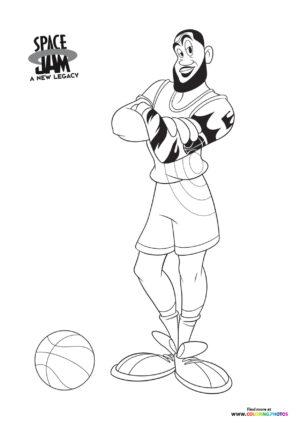 LeBron James posing coloring page