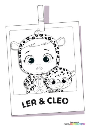 Lala and Cleo - Cry Babies coloring page