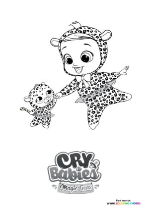 Lea dancing - Cry Babies coloring page
