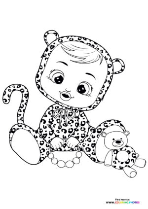Lea - Cry Babies coloring page
