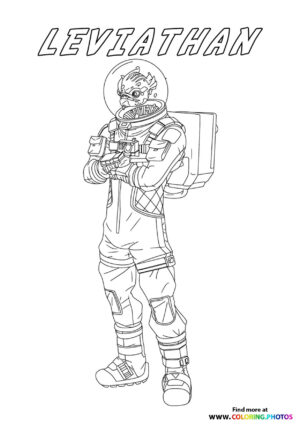 Leviathan - Fortnite coloring page