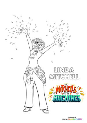 Linda - The Mitchells coloring page
