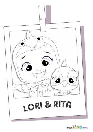 Lea and Rita - Cry Babies coloring page