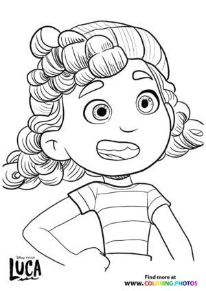 Luca Giulia coloring page