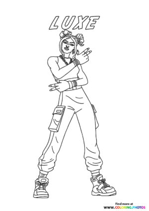 Luxe - Fortnite coloring page