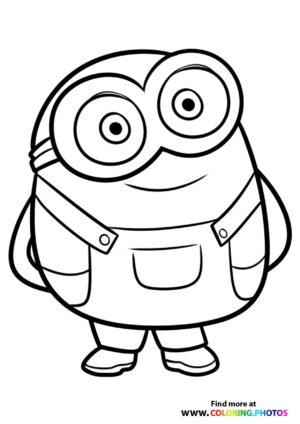Minions Cute Bob Coloring Page