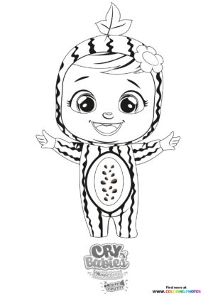 Maddie - Cry Babies - Tutti Frutti coloring page