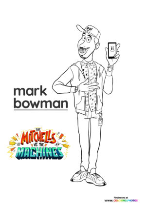 Mark Bowman - The Mitchells coloring page