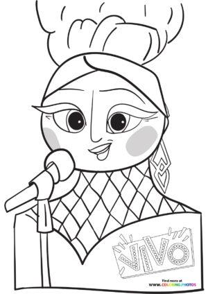 Marta singing coloring page