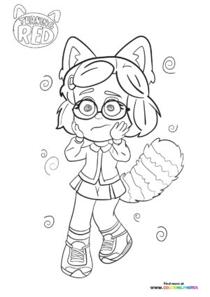 Mei Lee going crazy coloring page