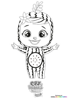 Mel - Cry Babies - Tutti Frutti coloring page