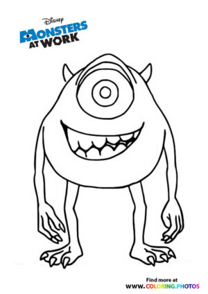 Mike - Monsters at work coloring page