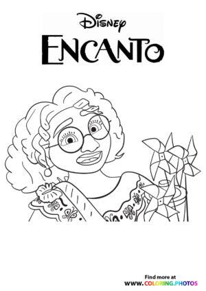 Mirabel Madrigal - Encanto coloring page