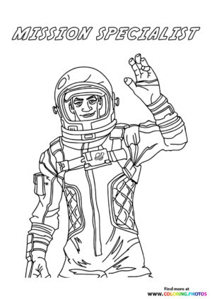 Mission Specialist - Fortnite coloring page