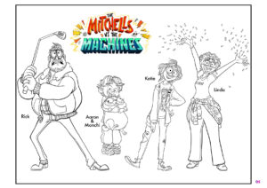 The Mitchells coloring page