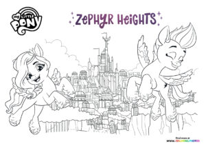 Zephyr Heights - My Little Pony - A New Generation coloring page
