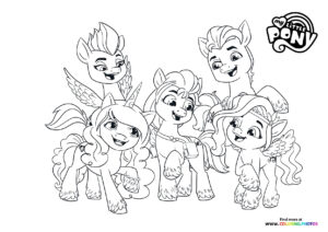My Little Pony friends - A New Generation coloring page