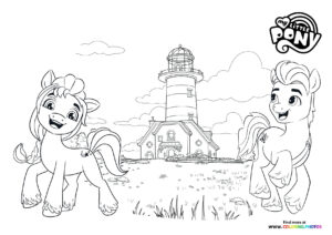 My Little Pony farm - A New Generation coloring page