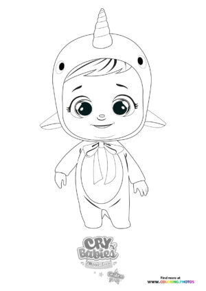 Narvie - Cry Babies - Gold Edition coloring page