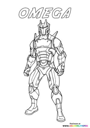 Omega - Fortnite coloring page