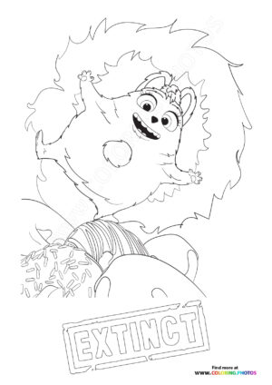 Op from Extinct coloring page
