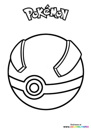 Pokeball - Pokemon coloring page