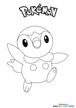 Starter pokemon - Pokemon coloring page