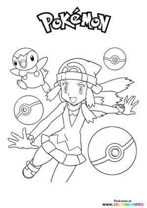 Pokemon trainer - Pokemon coloring page