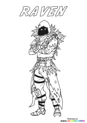 Raven - Fortnite coloring page