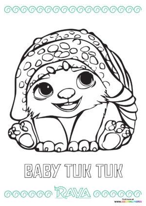 Baby Tuk Tuk coloring page