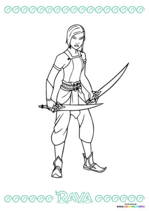 Namaari   Raya the Last Dragon coloring page