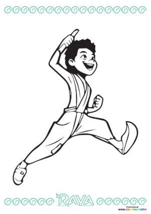 Boun running   Raya coloring page