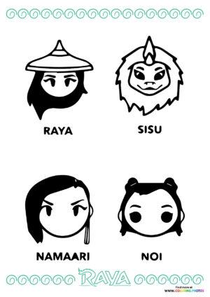 Raya and The Last Dragon main characters portraits