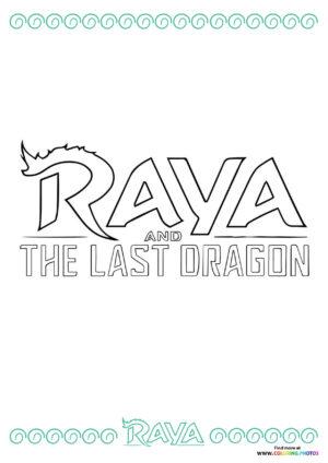 Raya the Last Dragon logo coloring page