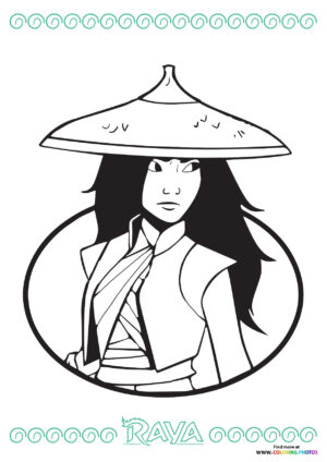 Raya and the last dragon portrait coloring page