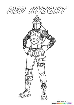 Red Knight - Fortnite coloring page