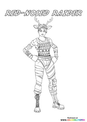 Red-nosed Raider - Fortnite coloring page